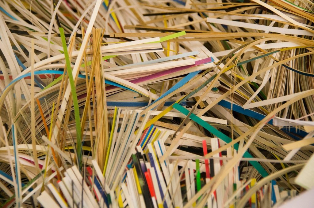 how to recycle shredded paper